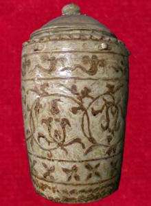 Thạp gốm hoa nâu được tìm thấy ở Thanh Hóa